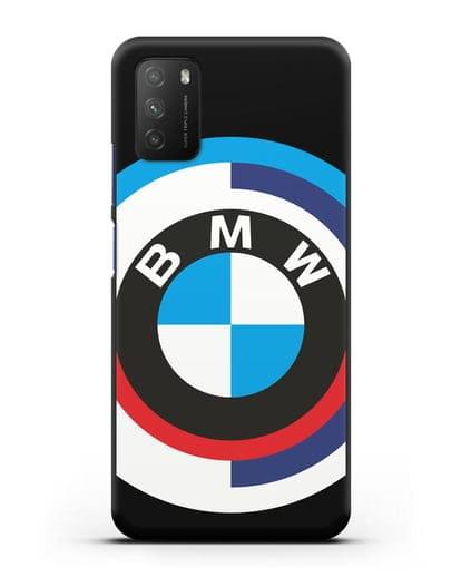 Чехол с логотипом BMW силикон черный для Xiaomi Poco M3