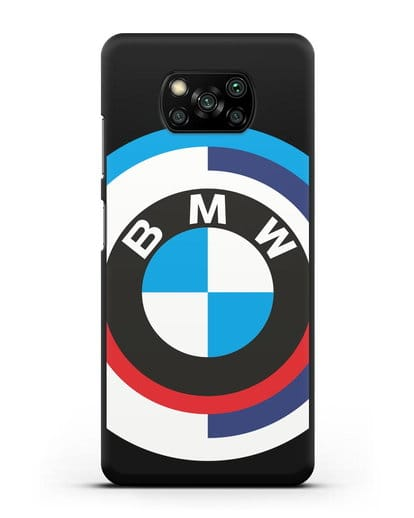 Чехол с логотипом BMW силикон черный для Xiaomi Poco X3 Pro