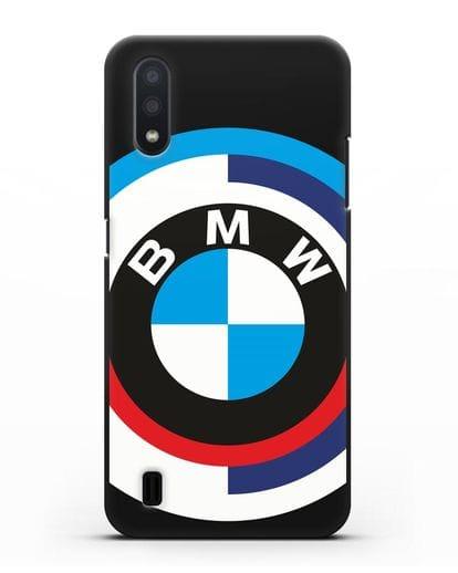 Чехол с логотипом BMW силикон черный для Samsung Galaxy A01 [SM-A015F]