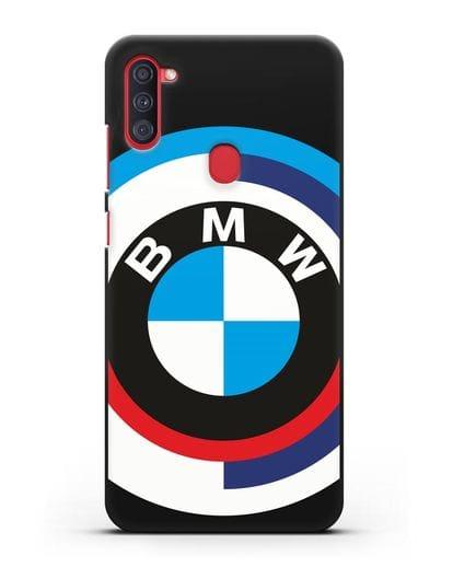 Чехол с логотипом BMW силикон черный для Samsung Galaxy A11 [SM-A115F]