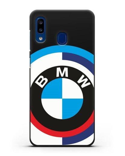 Чехол с логотипом BMW силикон черный для Samsung Galaxy A20 [SM-A205FN]