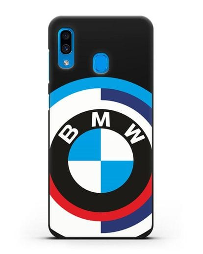Чехол с логотипом BMW силикон черный для Samsung Galaxy A30 [SM-A305FN]