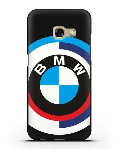 Чехол с логотипом BMW силикон черный для Samsung Galaxy A3 2017 [SM-A320F]