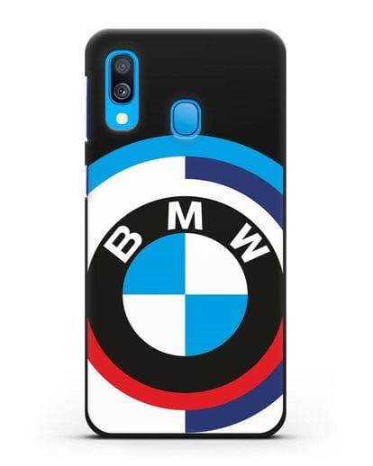 Чехол с логотипом BMW силикон черный для Samsung Galaxy A40 [SM-A405F]