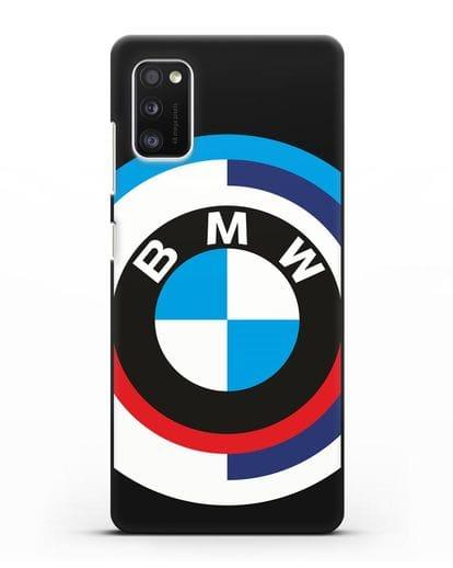 Чехол с логотипом BMW силикон черный для Samsung Galaxy A41 [SM-A415F]