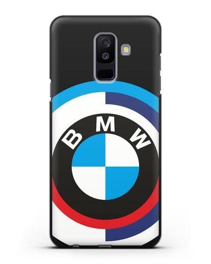 Чехол с логотипом BMW силикон черный для Samsung Galaxy A6 Plus 2018 [SM-A605F]