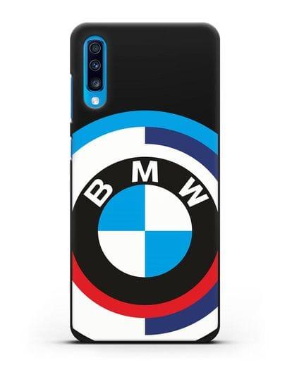 Чехол с логотипом BMW силикон черный для Samsung Galaxy A70 [SM-A705F]