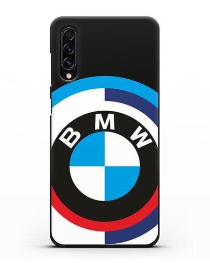 Чехол с логотипом BMW силикон черный для Samsung Galaxy A70s [SM-A707F]