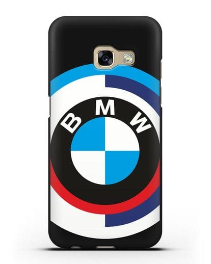 Чехол с логотипом BMW силикон черный для Samsung Galaxy A7 2017 [SM-A720F]