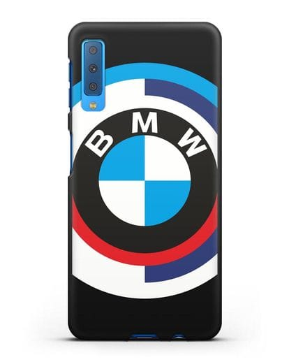 Чехол с логотипом BMW силикон черный для Samsung Galaxy A7 2018 [SM-A750F]
