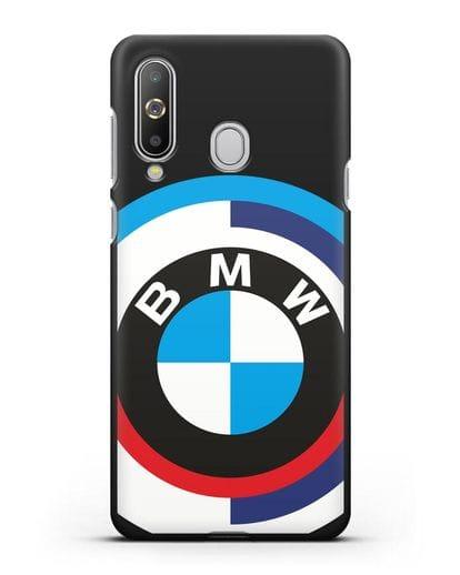 Чехол с логотипом BMW силикон черный для Samsung Galaxy A8s [SM-G8870]