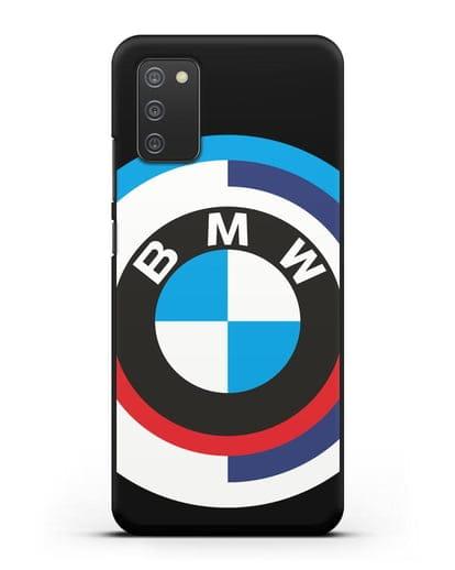 Чехол с логотипом BMW силикон черный для Samsung Galaxy A02s [SM-A025F]