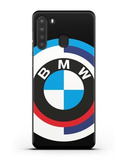 Чехол с логотипом BMW силикон черный для Samsung Galaxy A21 [SM-A215]