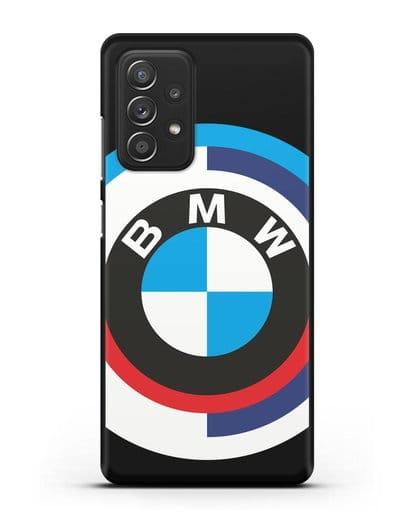 Чехол с логотипом BMW силикон черный для Samsung Galaxy A52 5G [SM-A5260]