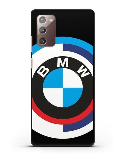 Чехол с логотипом BMW силикон черный для Samsung Galaxy Note 20 [SM-N980F]