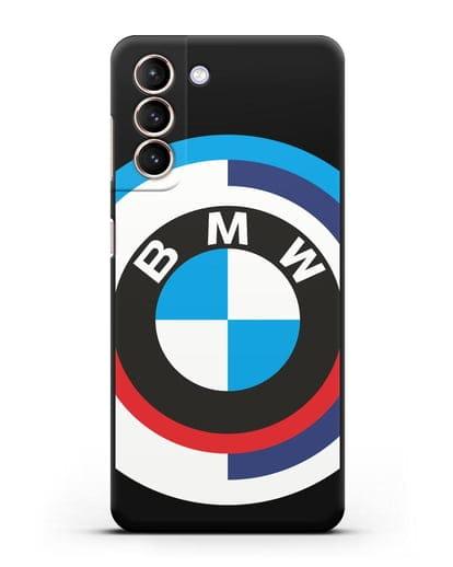 Чехол с логотипом BMW силикон черный для Samsung Galaxy S21 [SM-G991B]
