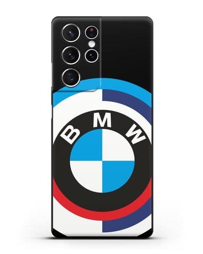 Чехол с логотипом BMW силикон черный для Samsung Galaxy S21 Ultra [SM-G998B]