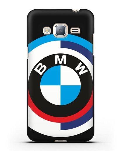 Чехол с логотипом BMW силикон черный для Samsung Galaxy J3 2016 [SM-J320F]