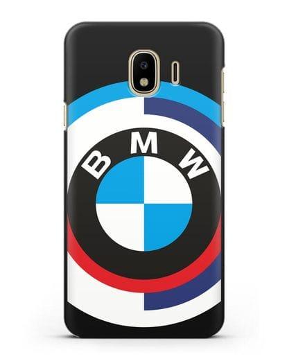 Чехол с логотипом BMW силикон черный для Samsung Galaxy J4 2018 [SM-J400F]