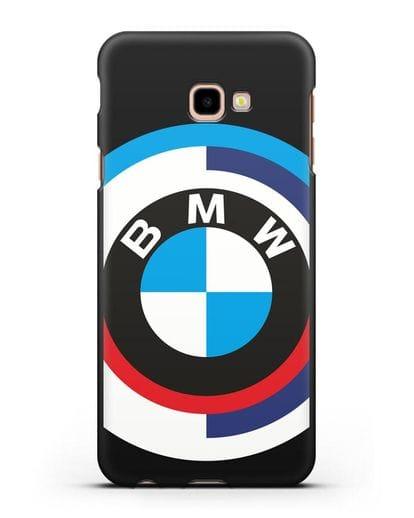 Чехол с логотипом BMW силикон черный для Samsung Galaxy J4 Plus [SM-J415]