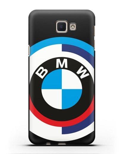 Чехол с логотипом BMW силикон черный для Samsung Galaxy J5 Prime [SM-G570]