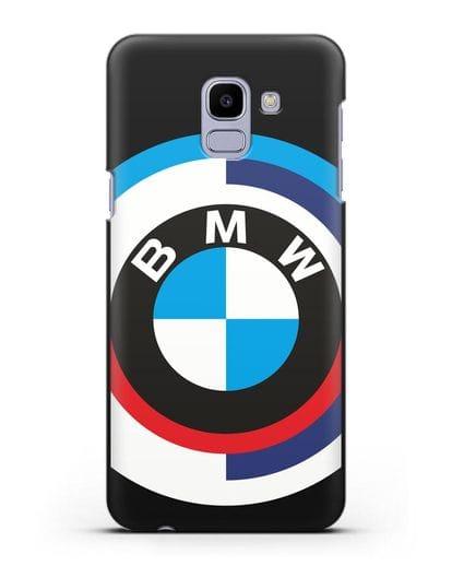 Чехол с логотипом BMW силикон черный для Samsung Galaxy J6 2018 [SM-J600F]
