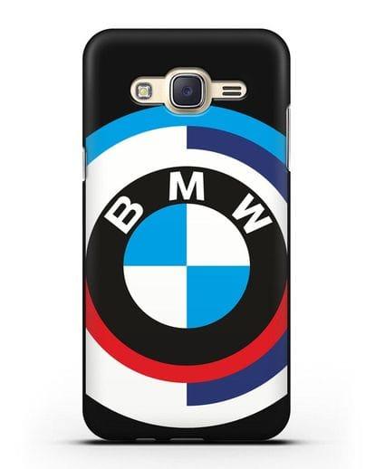 Чехол с логотипом BMW силикон черный для Samsung Galaxy J7 2015 [SM-J700H]