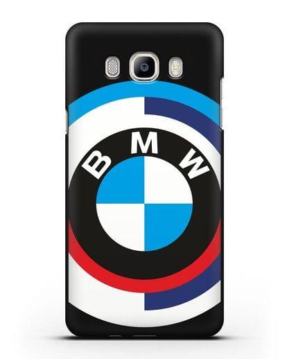 Чехол с логотипом BMW силикон черный для Samsung Galaxy J7 2016 [SM-J710F]