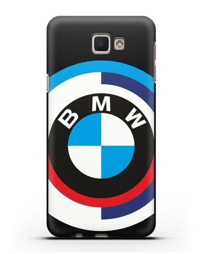 Чехол с логотипом BMW силикон черный для Samsung Galaxy J7 Prime [SM-G610F]