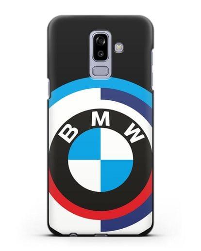 Чехол с логотипом BMW силикон черный для Samsung Galaxy J8 2018 [SM-J810F]