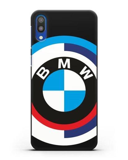 Чехол с логотипом BMW силикон черный для Samsung Galaxy M10 [SM-M105F]