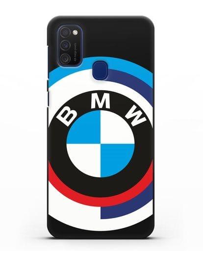 Чехол с логотипом BMW силикон черный для Samsung Galaxy M21 [SM-M215F]