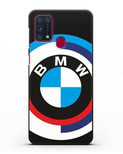 Чехол с логотипом BMW силикон черный для Samsung Galaxy M31 [SM-M315F]