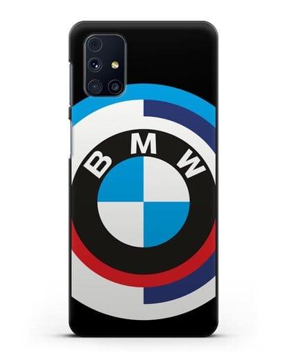 Чехол с логотипом BMW силикон черный для Samsung Galaxy M31s [SM-M317F]