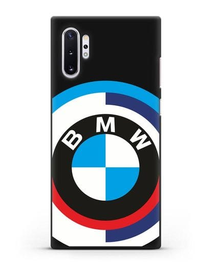 Чехол с логотипом BMW силикон черный для Samsung Galaxy Note 10 Plus [N975F]