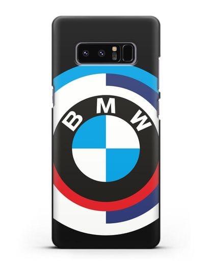 Чехол с логотипом BMW силикон черный для Samsung Galaxy Note 8 [N950F]