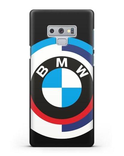 Чехол с логотипом BMW силикон черный для Samsung Galaxy Note 9 [N960F]