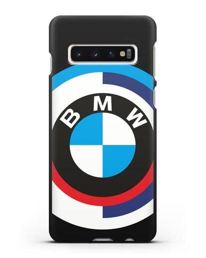 Чехол с логотипом BMW силикон черный для Samsung Galaxy S10 Plus [SM-G975F]