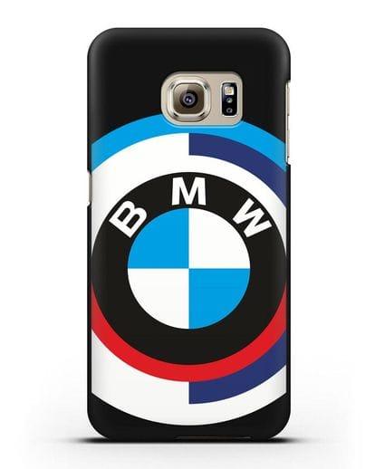 Чехол с логотипом BMW силикон черный для Samsung Galaxy S6 [SM-G920F]