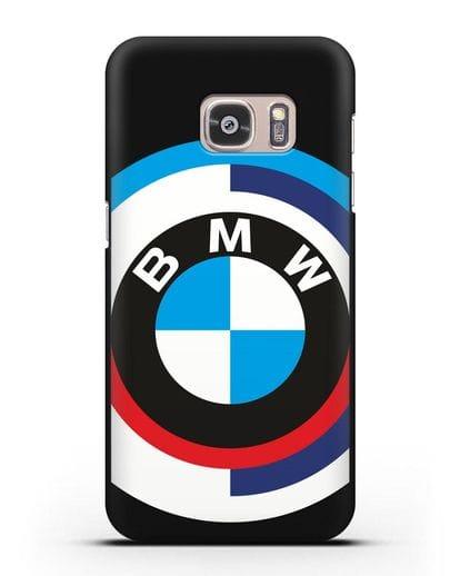 Чехол с логотипом BMW силикон черный для Samsung Galaxy S7 Edge [SM-G935F]
