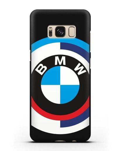 Чехол с логотипом BMW силикон черный для Samsung Galaxy S8 Plus [SM-G955F]