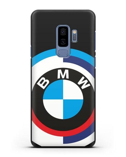 Чехол с логотипом BMW силикон черный для Samsung Galaxy S9 Plus [SM-G965F]