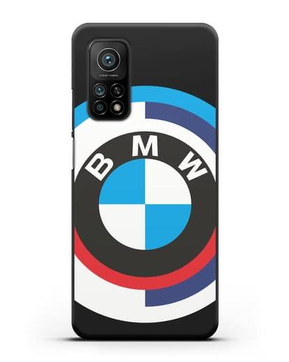 Чехол с логотипом BMW силикон черный для Xiaomi Mi 10t Pro