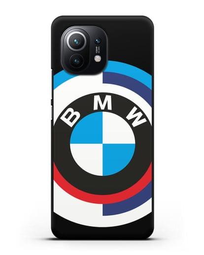 Чехол с логотипом BMW силикон черный для Xiaomi Mi 11
