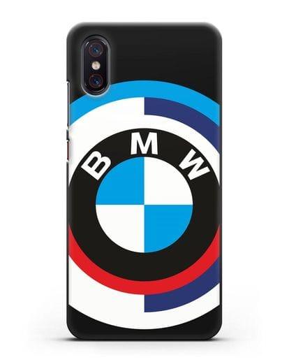 Чехол с логотипом BMW силикон черный для Xiaomi Mi 8 Pro