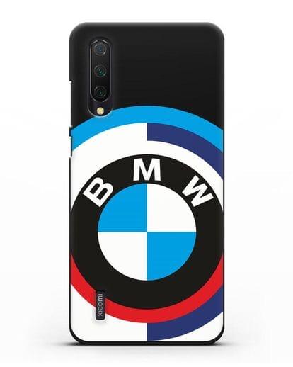 Чехол с логотипом BMW силикон черный для Xiaomi Mi 9 Lite