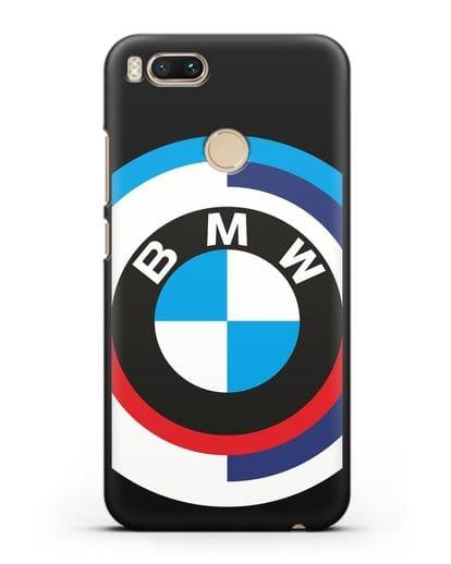 Чехол с логотипом BMW силикон черный для Xiaomi Mi A1