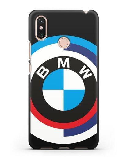 Чехол с логотипом BMW силикон черный для Xiaomi Mi Max 3