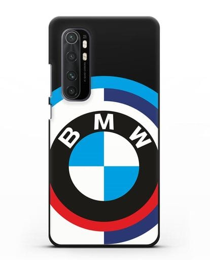 Чехол с логотипом BMW силикон черный для Xiaomi Mi Note 10 lite
