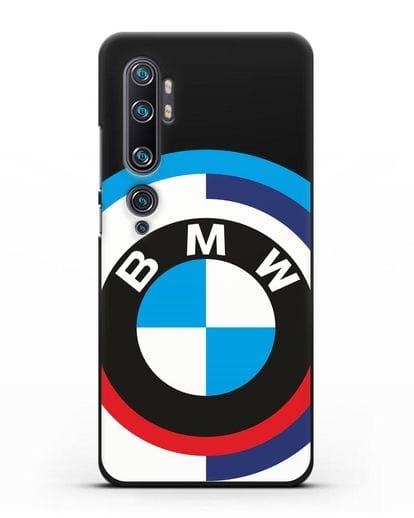 Чехол с логотипом BMW силикон черный для Xiaomi Mi Note 10 Pro